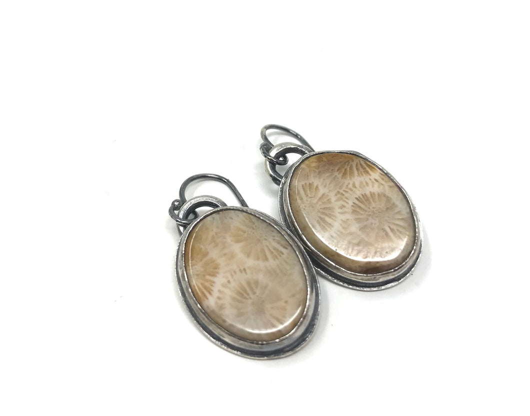 Fossilized Coral Earrings