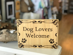 Dog Lovers Welcome