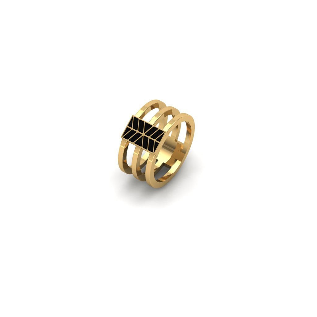 Enamel Cage Ring