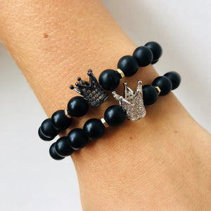 Beaded Bracelet W/ Crown