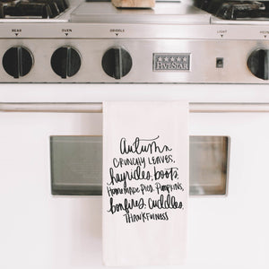 Autumn Things Tea Towel