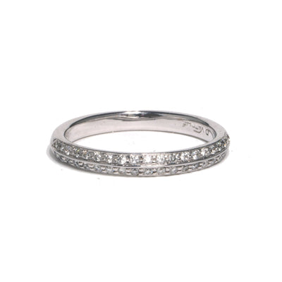 14kt White Gold Caroline Pave Band