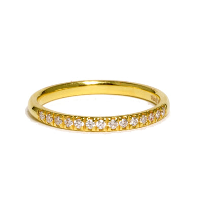 14kt Yellow Gold Diamond Band