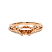 14kt Rose Gold Semi-Mounting