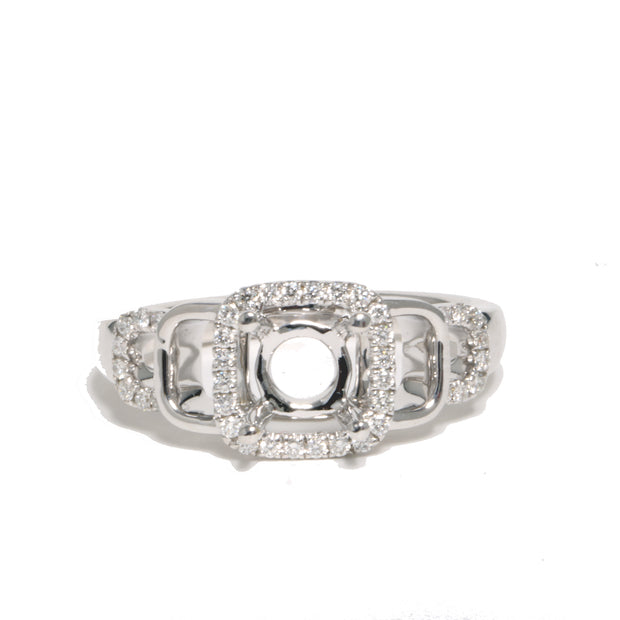 18kt White Gold Diamond Semi-Mounting