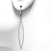 14kt White Gold Diamond Drop Earrings