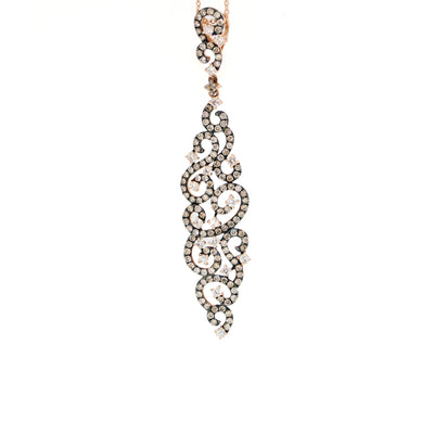 14kt Rose Gold Diamond Pendant