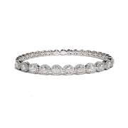 18kt White Gold Diamond Bangle Bracelet