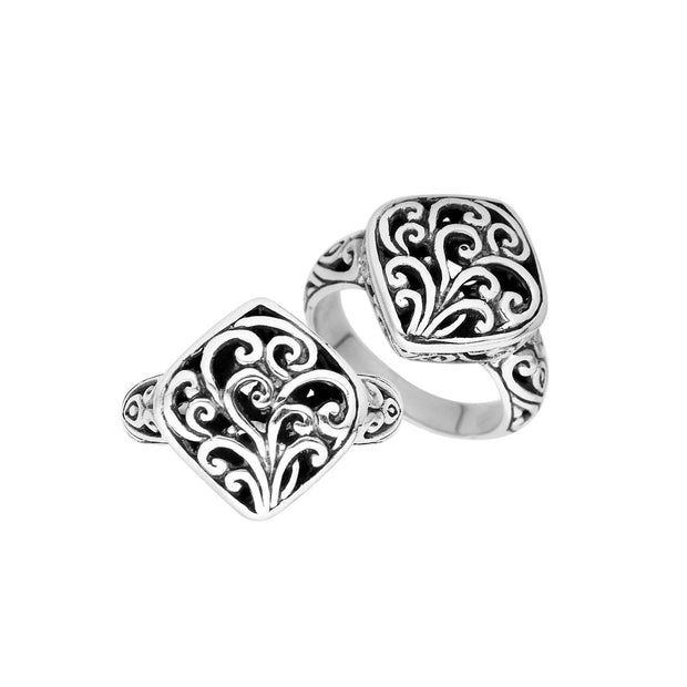 Sterling Silver Balinese Design Ring