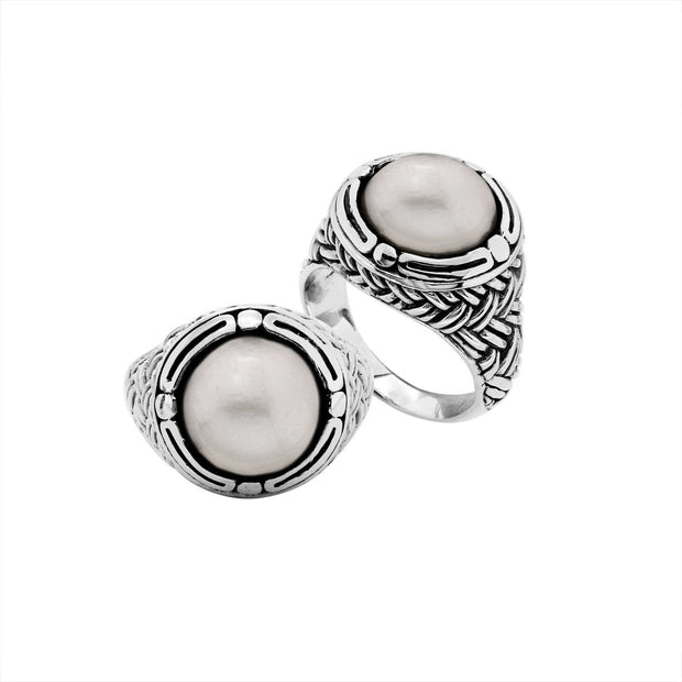 Sterling Silver Pearl Ring