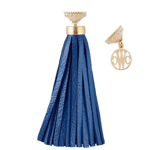 Leather 'Baja' Royal Blue Tassel by Clara Williams Company