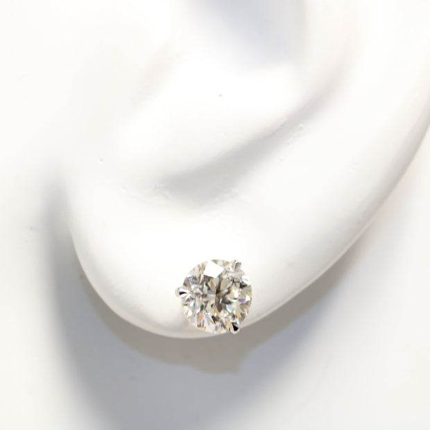14KT WHITE GOLD 'MARTINI' DIAMOND STUDS