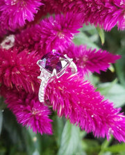18K White Gold Lavender Garnet Ring
