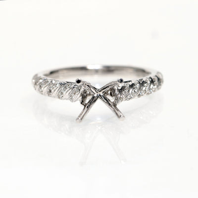 18kt White Gold Hemera Diamond Semi-Mounting