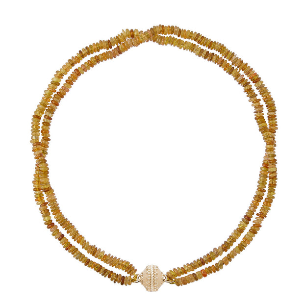 CWC Yellow Tourmaline 2 Strand Necklace