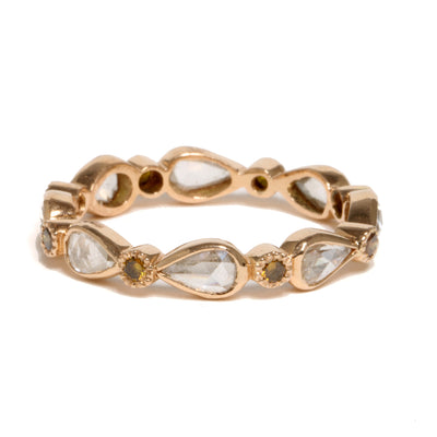 14kt Rose Gold Diamond Band
