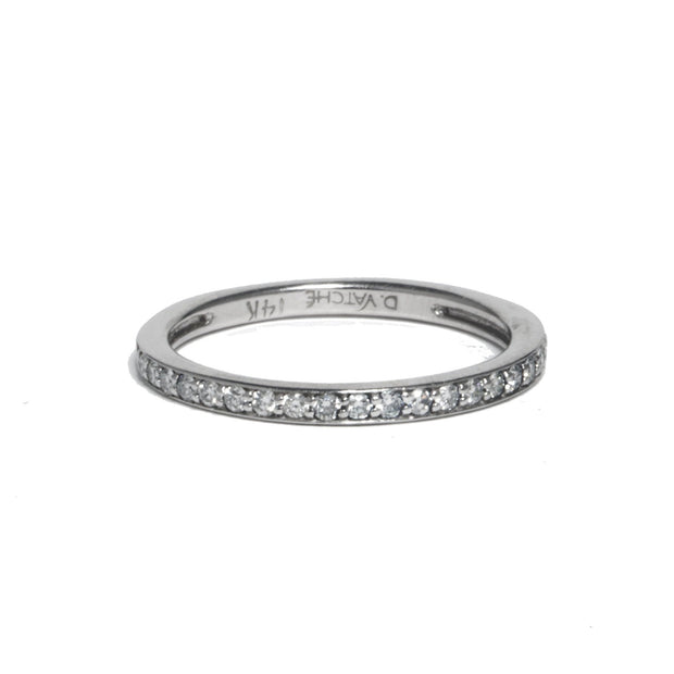 14kt White Gold Diamond Band
