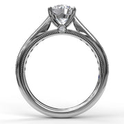 14K White Gold Diamond Semi-Mounting