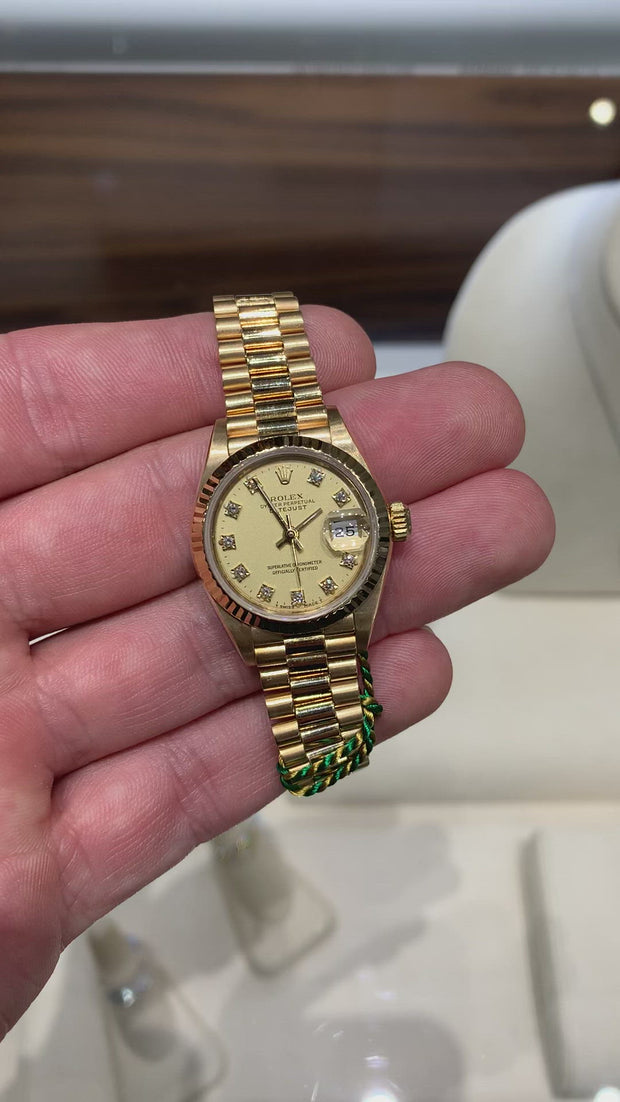 18K Yellow Gold Ladies' President Rolex