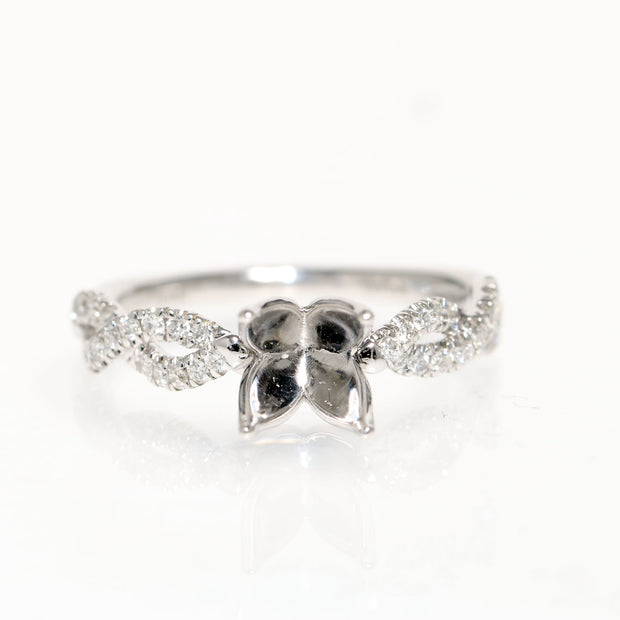 18kt White Gold Hemera Bridal Diamond Semi-Mounting
