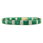 18kt and Silver Firenze Emerald Green Enamel Bangle