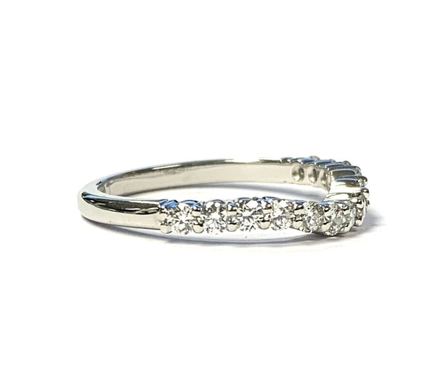 Platinum Curved Diamond Band