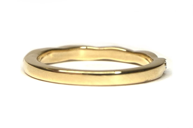 "18K Yellow Gold Diamond ""Twine"" Band"