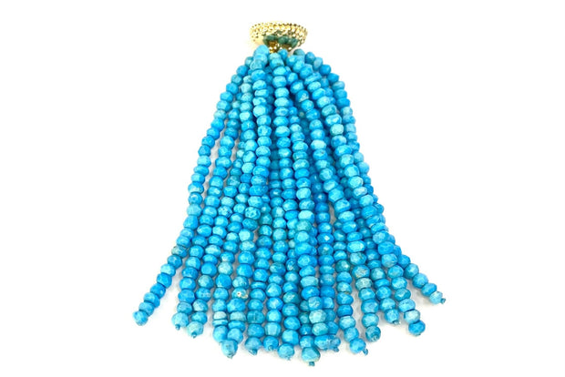 'Michel' Turquoise Rhondelle Tassel by Clara Williams Company