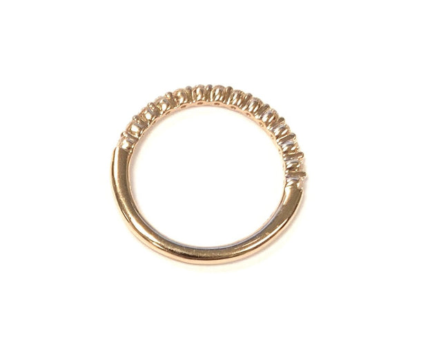 14K Rose Gold Diamond Band 0.29 ctw