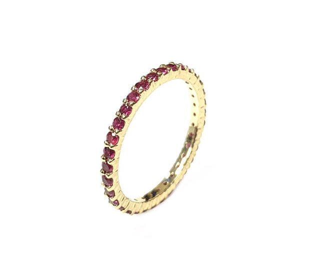 14K Yellow Gold & Ruby Eternity Band