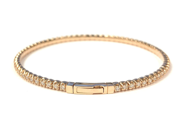 14K Rose Gold 'Flex' Diamond Bangle Bracelet 1.50 ctw
