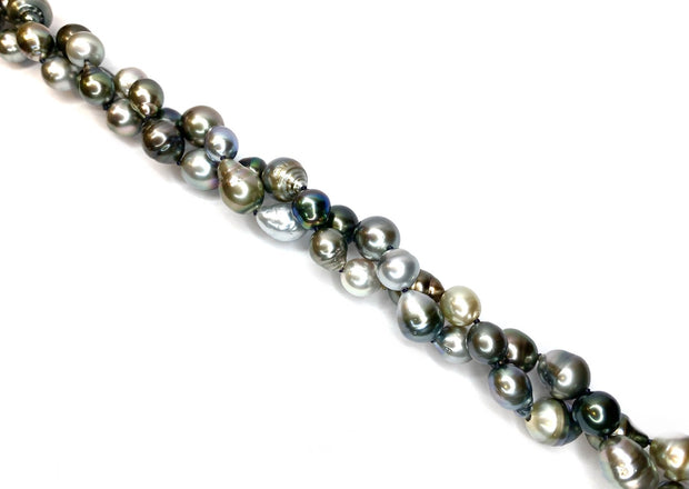 "Multicolor Tahitian Pearls on ""The Big Sleep"" Clasp"