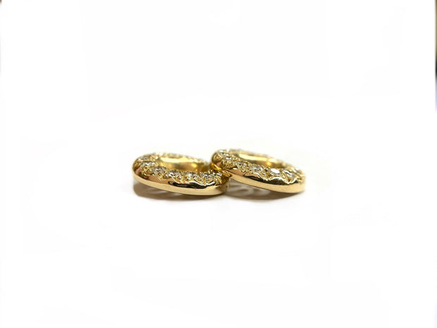 14K Yellow Gold Diamond Earring Jackets