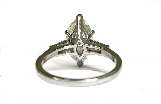 Platinum Marquise Diamond Ring 4.46 cts