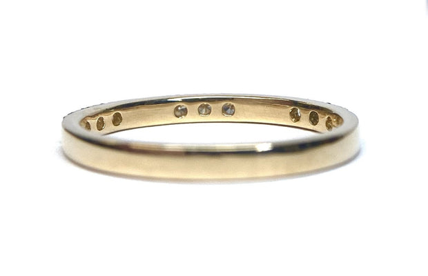 "18K Yellow Gold ""Luna"" Diamond Band"
