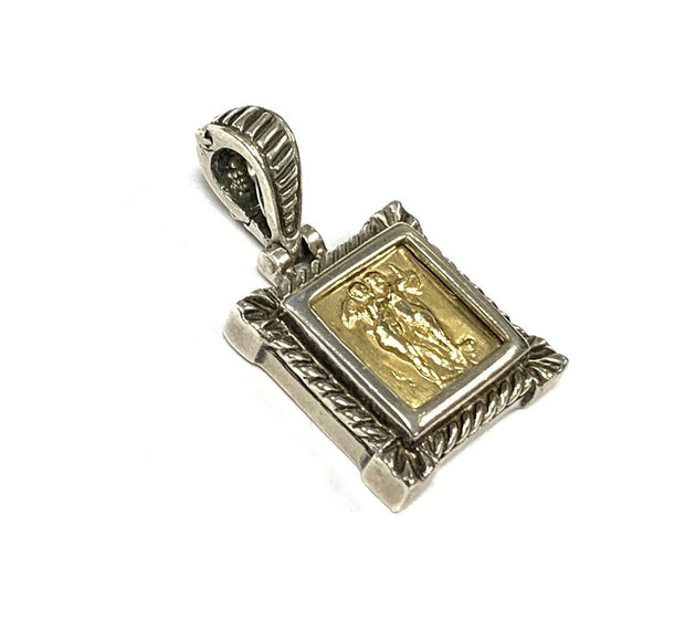 Sterling Silver and 18K Yellow Gold Pendant