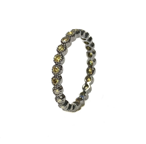 18K White Gold / Black Rhodium Eternity Band