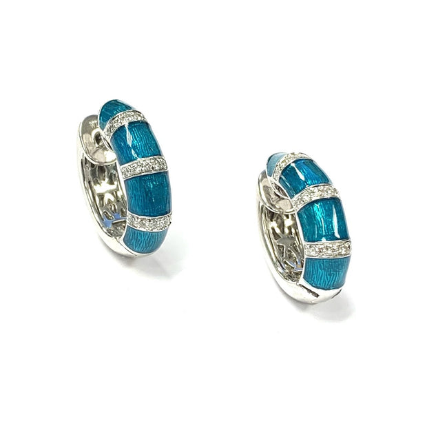 "18K and Sterling Silver ""Paraiba"" Firenze Earrings by Henderson Collection"