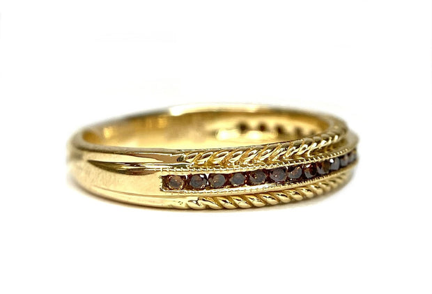 18K Yellow Gold Colored Diamond Band