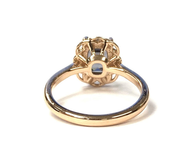 14K Rose Gold Grey Spinel Ring