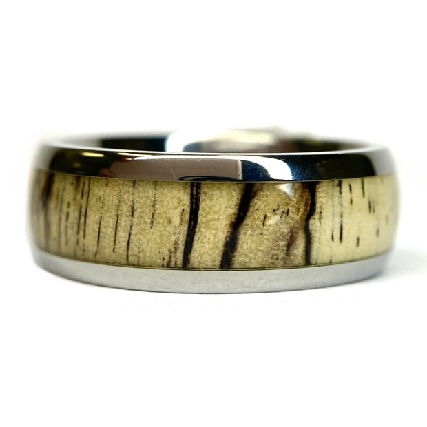 Titanium Band With Tamarind Wood Inlay