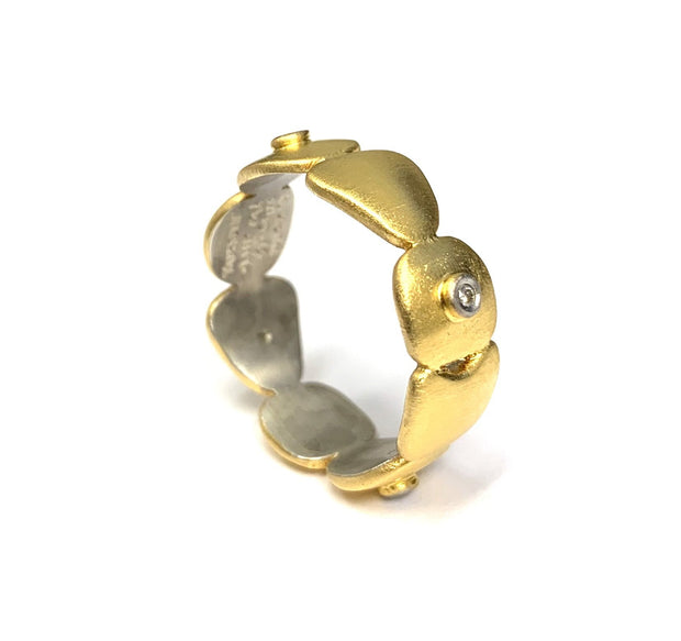 22K Yellow Gold Bonded Over Sterling Silver Ring