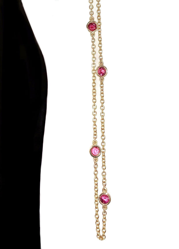 14K Yellow Gold Spinel Gems By The Yard Necklace