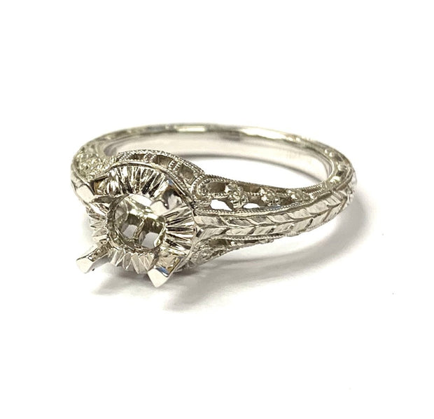 18K White Gold Whitehouse Brothers Diamond Semi-Mounting