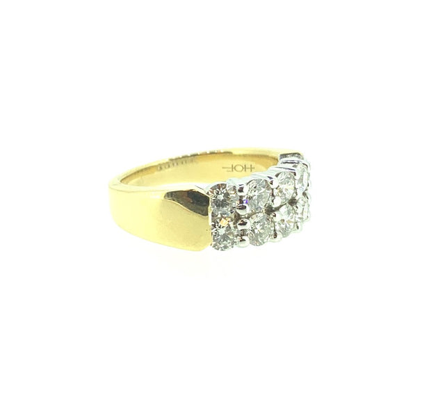 "18K Y/W Gold ""Hearts on Fire"" Diamond Band 1.50 ctw"