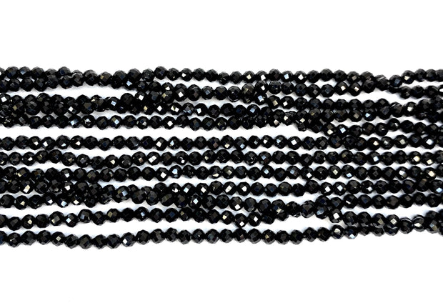'Michel' Black Spinel Multi-strand Necklace by CWC