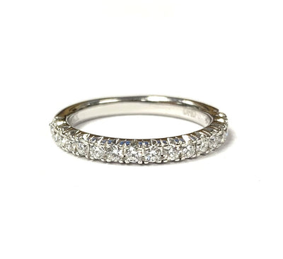 14K White Gold Diamond Band 0.50 ctw