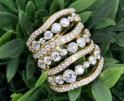 18K Yellow Gold Diamond Fashion Ring