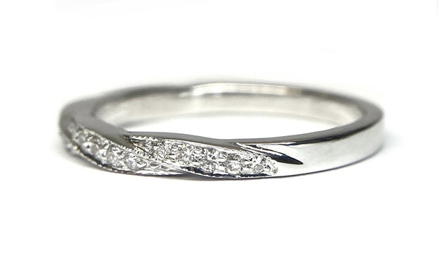 "18K White Gold Diamond ""Twine"" Band"