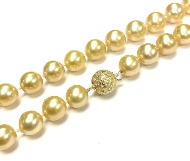 Gold South Sea Pearls with Elegant 14K Clasp